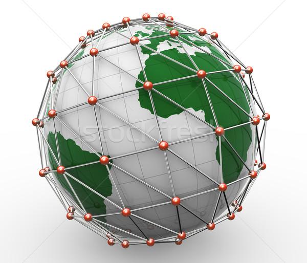 3d global network Stock photo © nasirkhan