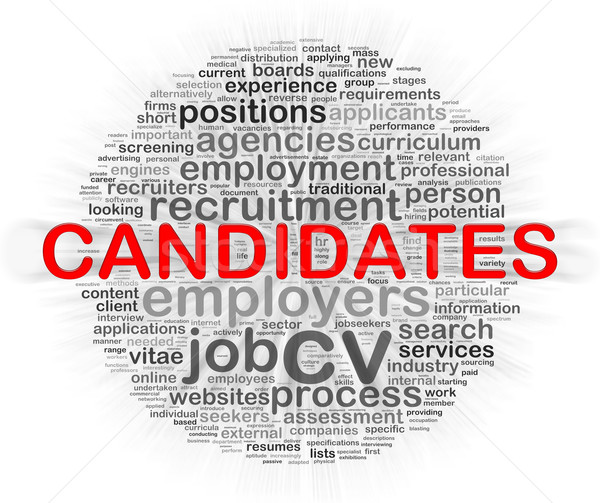Circular palabra etiquetas candidato ilustración Foto stock © nasirkhan