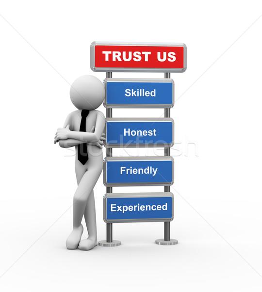 3D biznesmen działalności zaufania Zdjęcia stock © nasirkhan