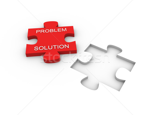 Puzzle solution Stock photo © nasirkhan