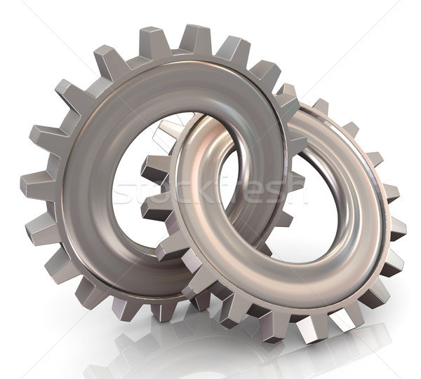 Two connected gear Stock photo © nasirkhan