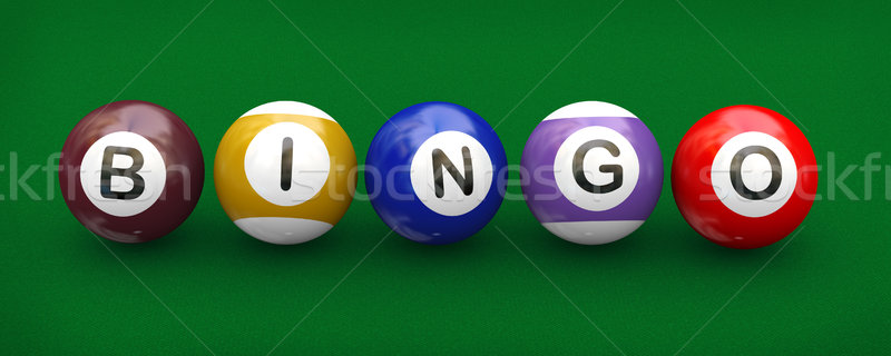 3d billiard pool balls bingo Stock photo © nasirkhan