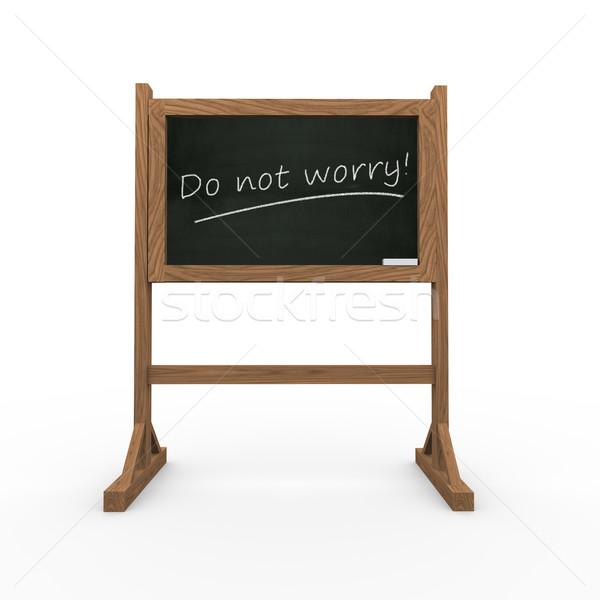 3D fekete tábla aggodalom renderelt kép bemutató Stock fotó © nasirkhan