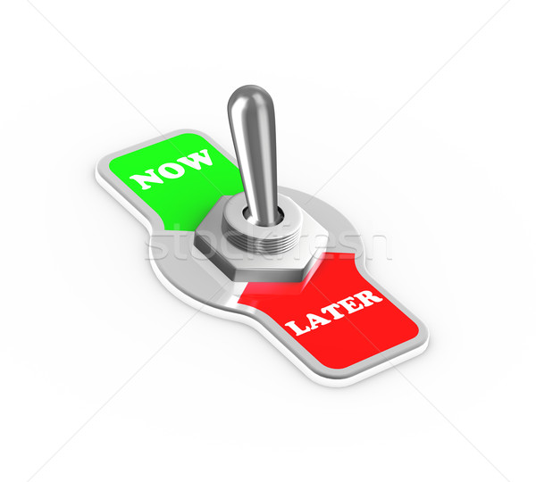 3d now later toggle switch button Stock photo © nasirkhan