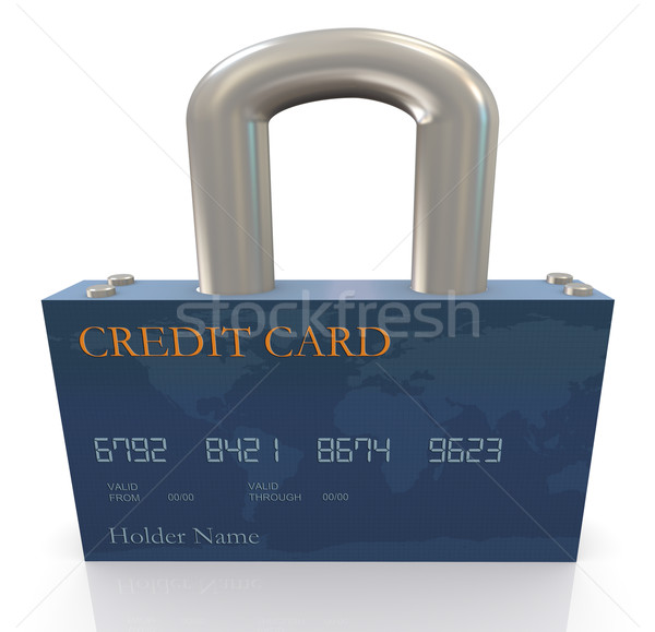 Protection of credit card Stock photo © nasirkhan