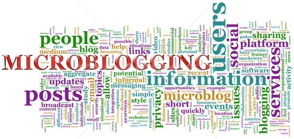 Microblogging wordcloud Stock photo © nasirkhan