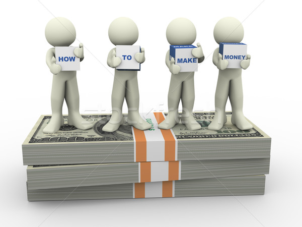 3d people make money Stock photo © nasirkhan