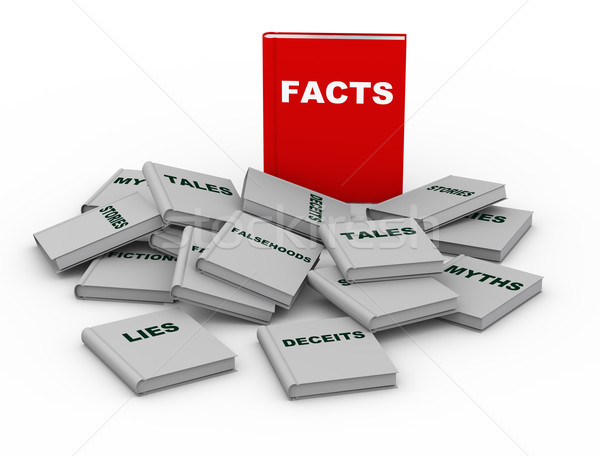 3d facts book Stock photo © nasirkhan