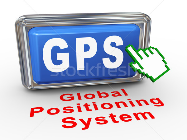 3d hand cursor gps button Stock photo © nasirkhan