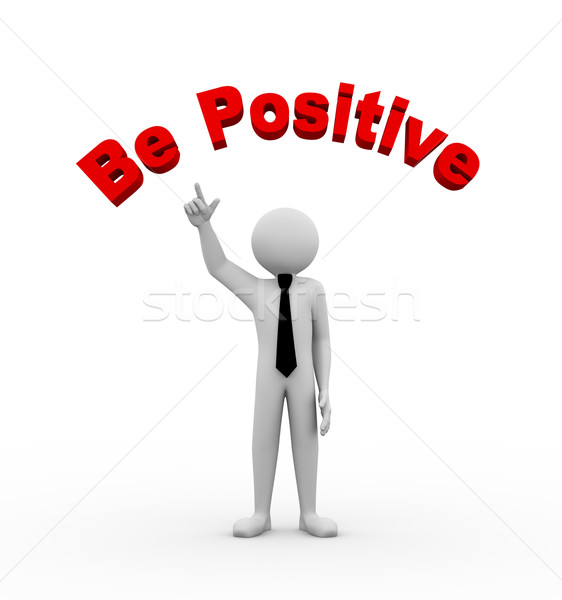 3d businessman with be positive illustration Stock photo © nasirkhan