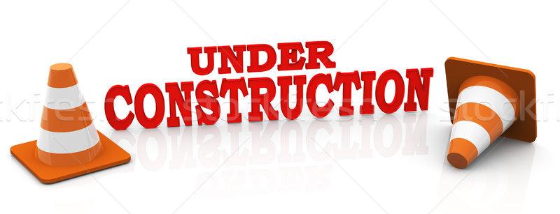 3d under construction Stock photo © nasirkhan