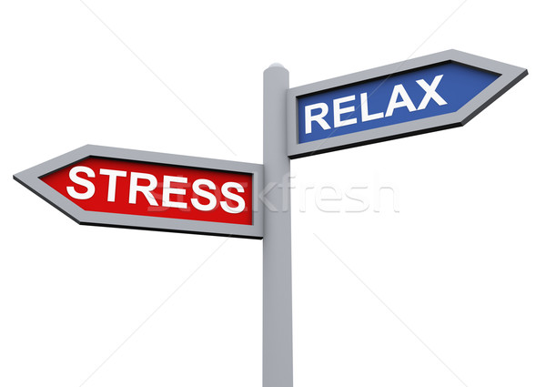 Relax and stress Stock photo © nasirkhan