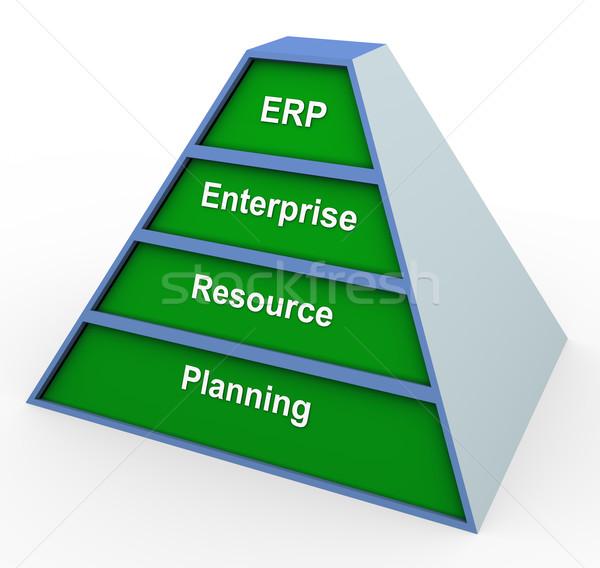 Erp pyramid Stock photo © nasirkhan