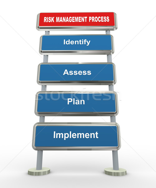 3d risk management Stock photo © nasirkhan
