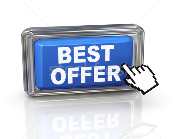 3d hand cursor button - best offer Stock photo © nasirkhan