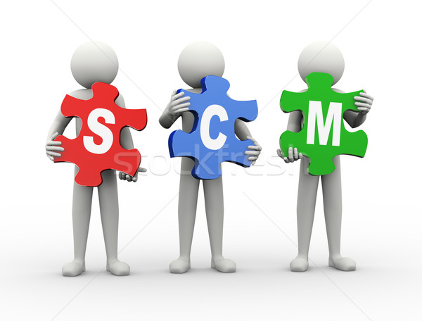 3d man puzzle piece - scm Stock photo © nasirkhan