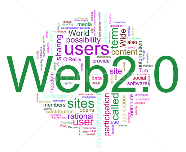 Web 2.0 wordcloud Stock photo © nasirkhan
