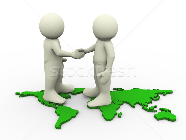 3d people shaking hands Stock photo © nasirkhan