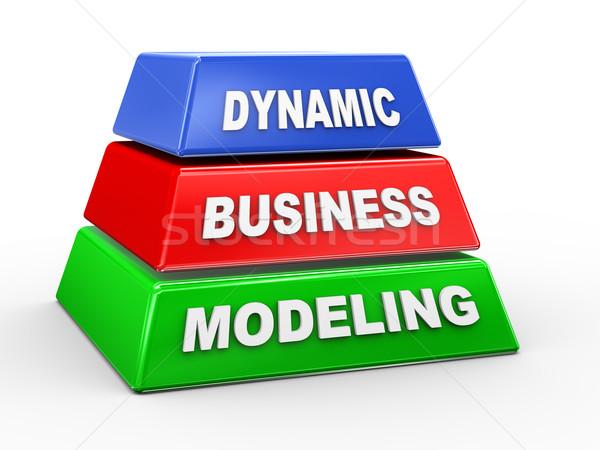 3d dynamic business modeling Stock photo © nasirkhan