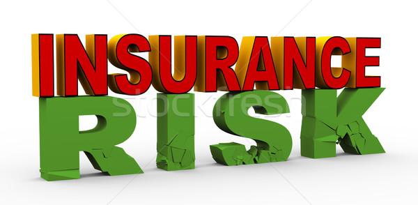 3d insurance over risk Stock photo © nasirkhan