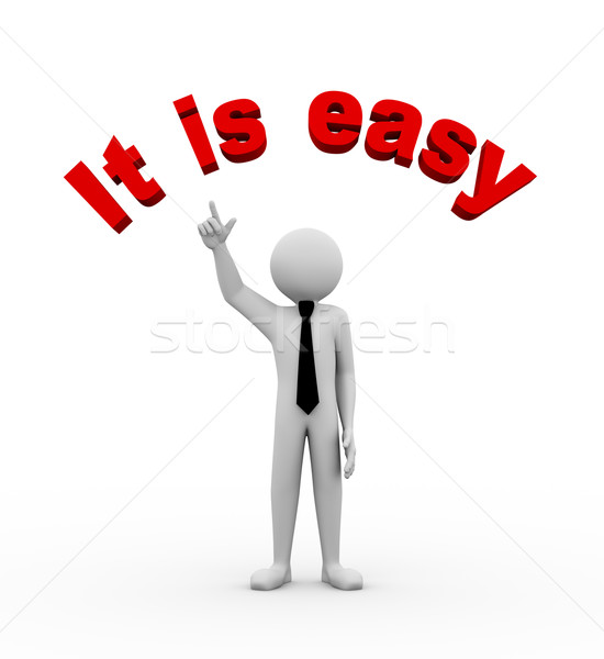 3d businessman with it's easy illustration Stock photo © nasirkhan