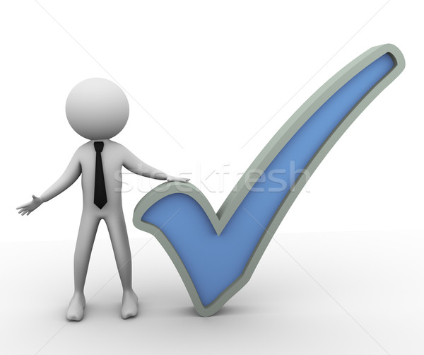 3d check mark Stock photo © nasirkhan