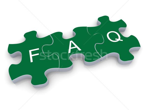 3d faq puzzle Stock photo © nasirkhan