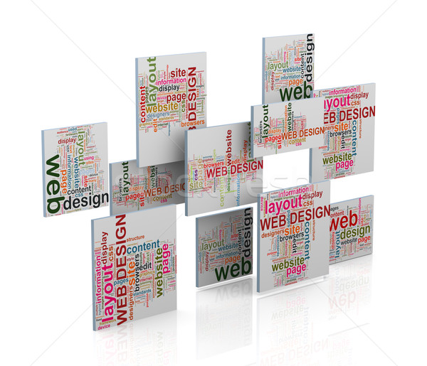 3d web design word tags wordcloud Stock photo © nasirkhan