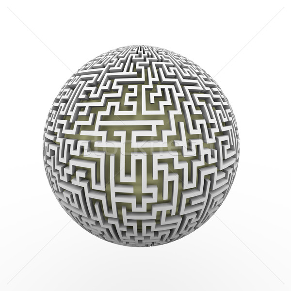 3d  endless labyrinth maze planet ball Stock photo © nasirkhan