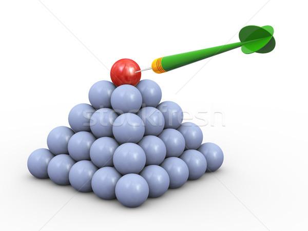 3d dart hitting target Stock photo © nasirkhan