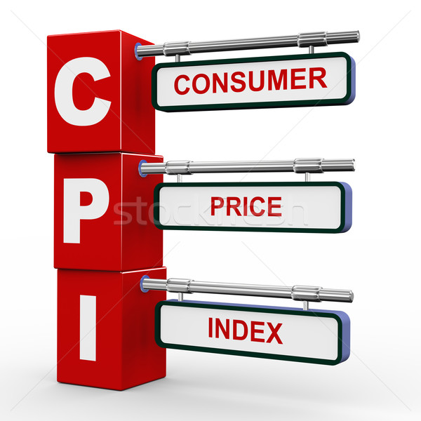 3d modern signboard of cpi Stock photo © nasirkhan