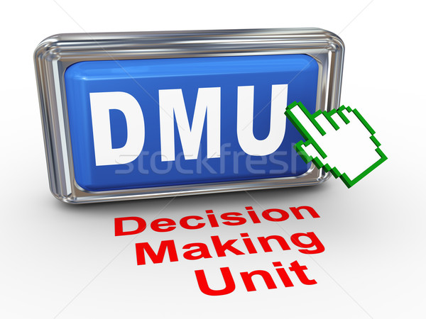 3d hand cursor - decision making unit button Stock photo © nasirkhan