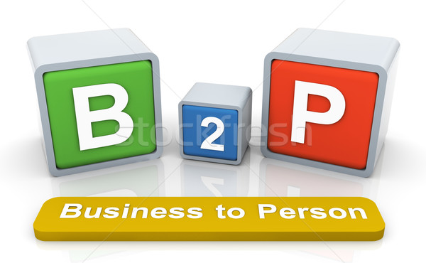 3d colorful textbox 'b2p' Stock photo © nasirkhan
