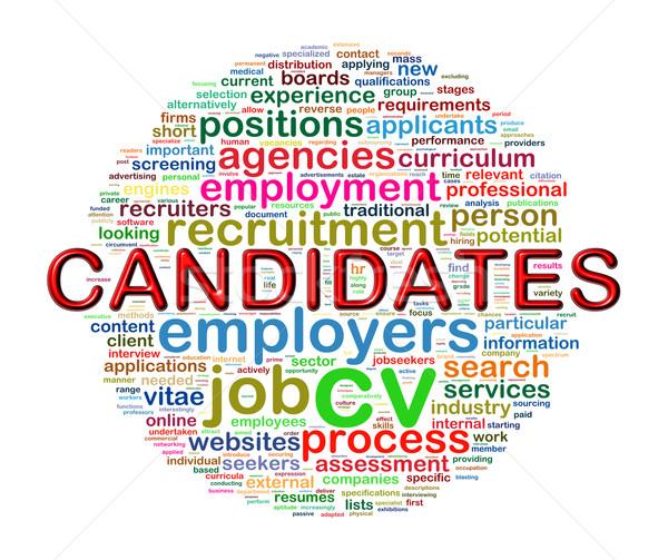 言葉 候補者 実例 ストックフォト © nasirkhan