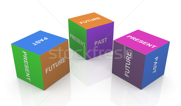 Present, past and future Stock photo © nasirkhan