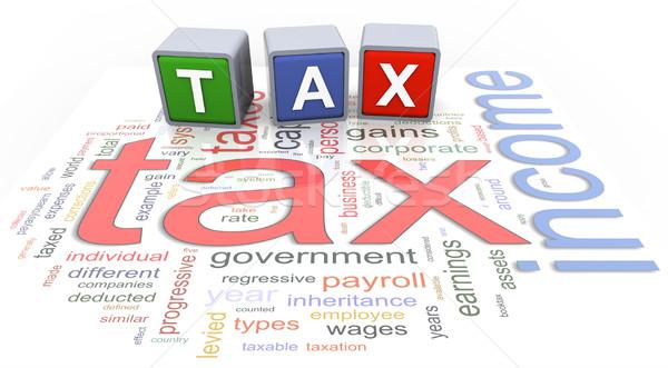 3d buzzword text tax Stock photo © nasirkhan