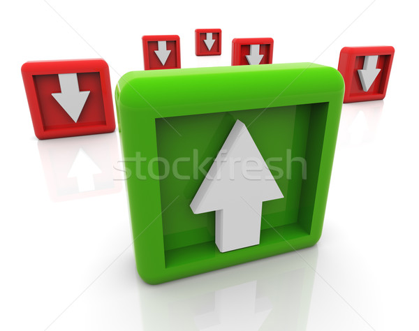 3d up and down arrows Stock photo © nasirkhan