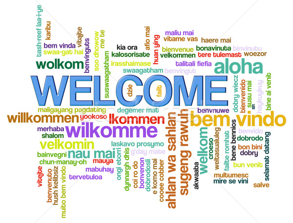 Welcome word tags Stock photo © nasirkhan