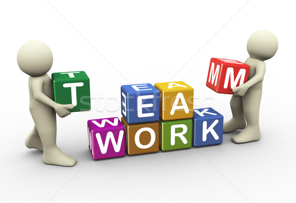 3d people team work Stock photo © nasirkhan