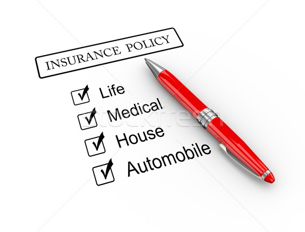 3d pen and insurance policy Stock photo © nasirkhan
