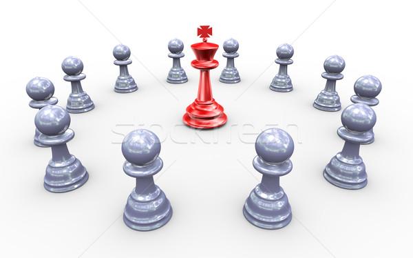 Concept of leadership Stock photo © nasirkhan