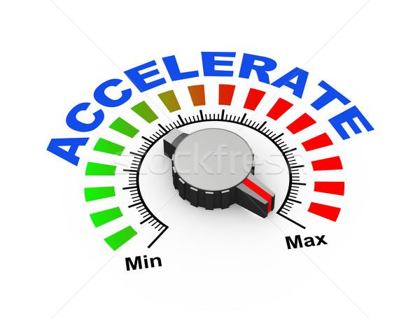 3d knob - accelerate Stock photo © nasirkhan