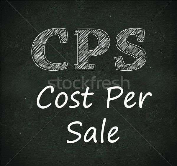 Chalkboard illustration of cps - cost per sale Stock photo © nasirkhan