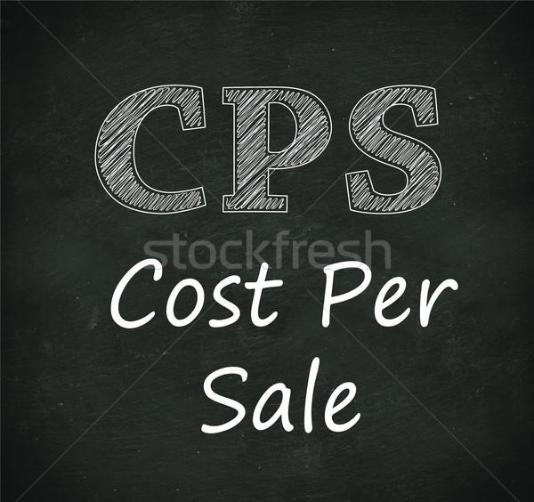 Kara tahta örnek maliyet satış dizayn Stok fotoğraf © nasirkhan