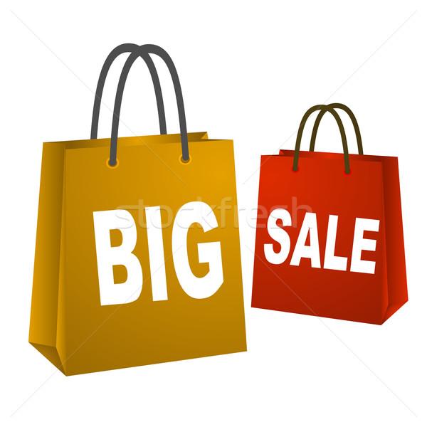 Big sale shopping bags Stock photo © nasirkhan