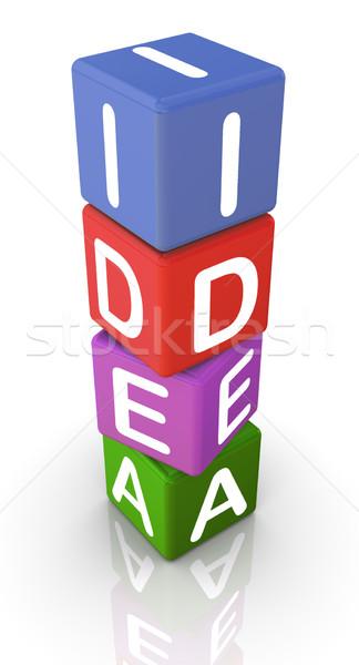 3d metin fikir 3d render renkli metin dizayn Stok fotoğraf © nasirkhan