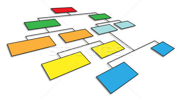 3d organizational chart Stock photo © nasirkhan