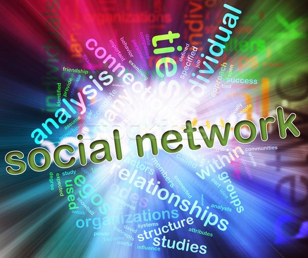 Stockfoto: Illustratie · social · media · vorm