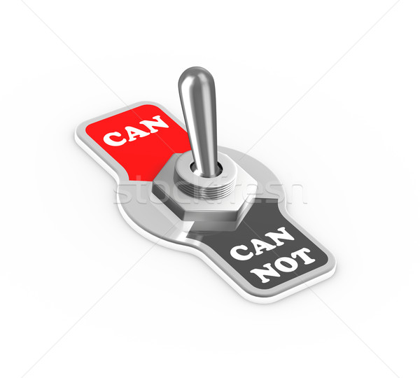 3d can can't toggle switch button Stock photo © nasirkhan