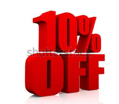 Vente promotion texte 10 pour cent Photo stock © nasirkhan